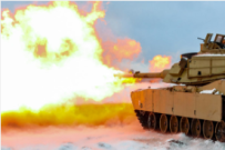 Ein US-Panzer vom Typ M1A2